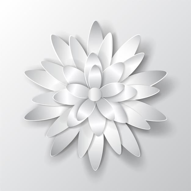 Große schöne volumenpapierblume mit weichem schatten
