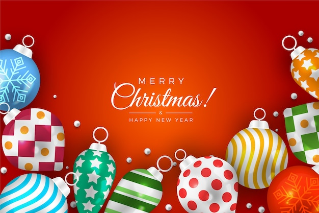 Große weihnachtsbälle für baum- und steigungshintergrund