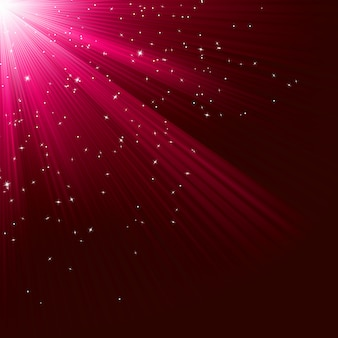 Große weihnachtsbeschaffenheit mit leuchtenden sternen und strahlen. datei enthalten