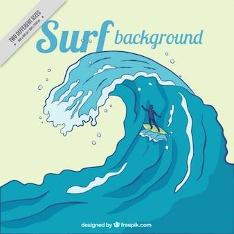 Große welle surfen hintergrund