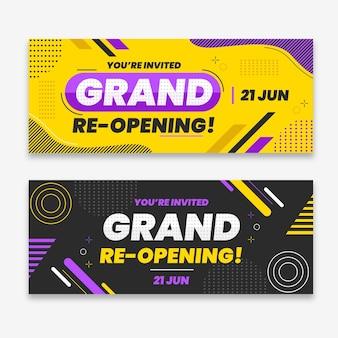 Große wiedereröffnung bald banner vorlage
