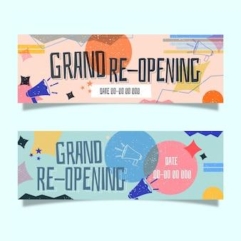 Große wiedereröffnung banner vorlage