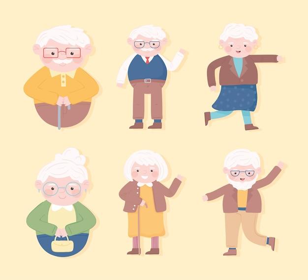 Großeltern cartoon-set