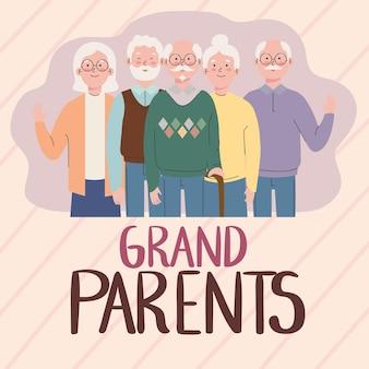 Großeltern-grußkarte