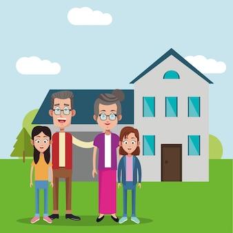 Großeltern mit mädchenhaushintergrund