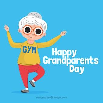Großeltern tag hintergrund in flachen stil