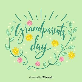 Großeltern tag schriftzug hintergrund
