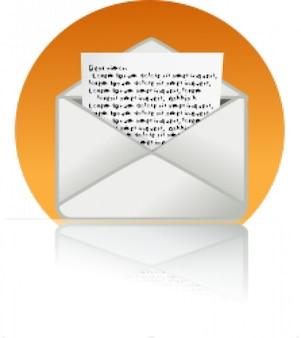 Großen mail-symbol