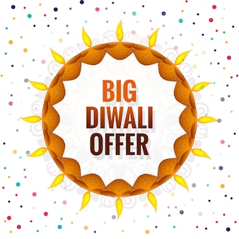 Großer diwali-festivalangebot-hintergrundvektor