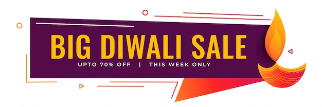 Großer diwali-verkauf und förderndes bannendesign