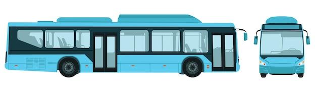 Großer elektrischer stadtbus
