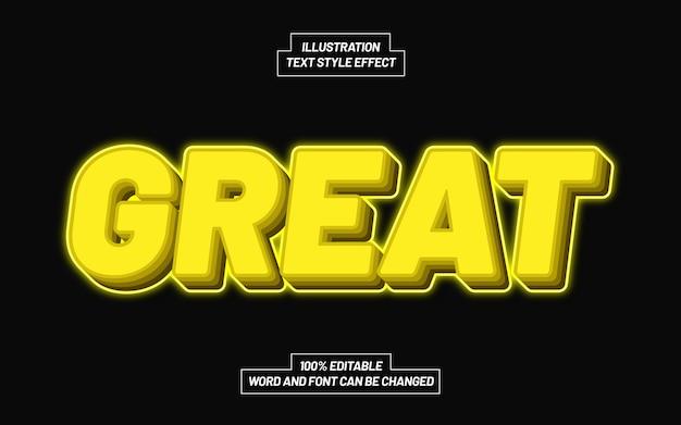 Großer gelber textstil-effekt