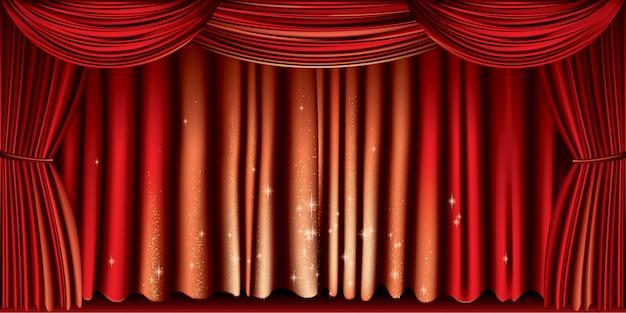 Großer roter vorhang