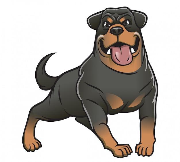 Großer rottweiler hund