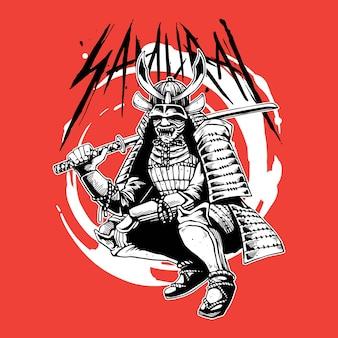 Großer samurai-krieger