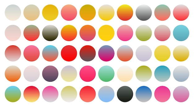 Großer satz lebendiger bunter farbverlauf