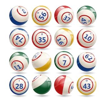 Großer satz lotterie-bingo-bälle