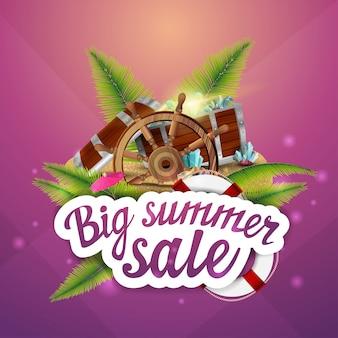 Großer sommerschlussverkauf, kreative web-banner für ihre kreativität