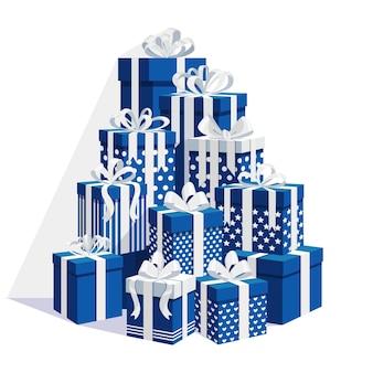 Großer stapel geschenkbox