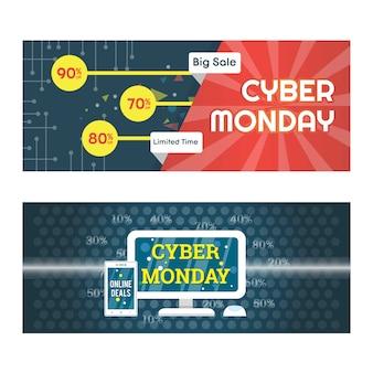 Großer verkauf cyber montag hintergrund