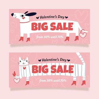 Großer verkauf hund und katze valentinstag verkauf