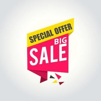 Großer verkauf super sale, sonderangebot banner