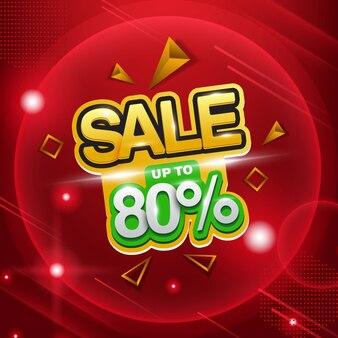 Großer verkauf, verkauf bis zu 80%, verkaufshintergrund für promotion