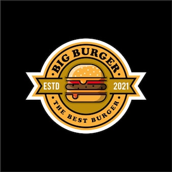 Großes burger-logo-design