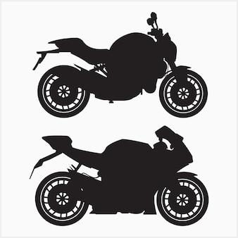 Großes fahrrad-silhouette-set