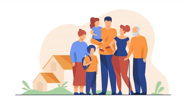 Großes familientreffen