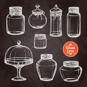 Großes glas-set