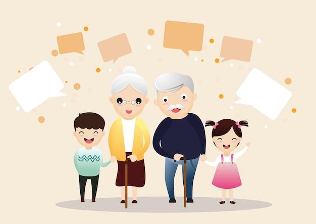 Großes glückliches familienportrait.
