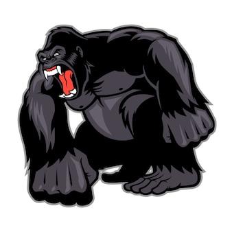 Großes gorilla-maskottchen