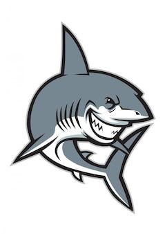 Großes hai-maskottchen