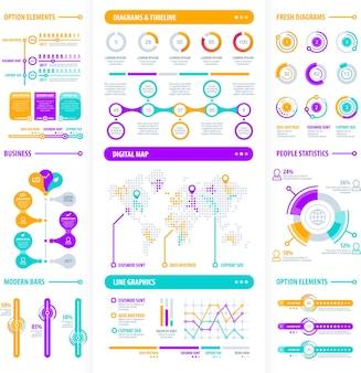 Großes modernes infografik-element-set
