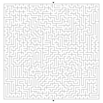 Großes quadratisches labyrinth