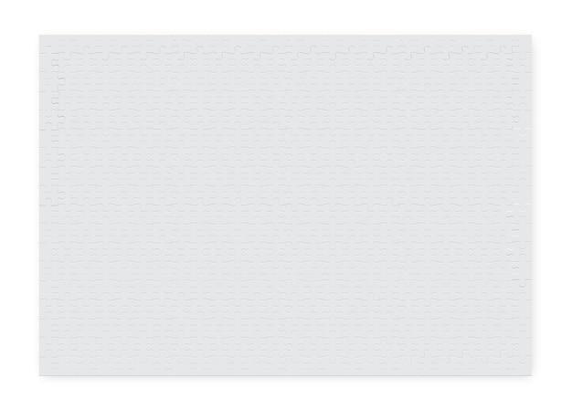Großes rechteckiges puzzle von teilen der weißen farbe