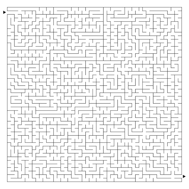 Großes schwieriges labyrinth
