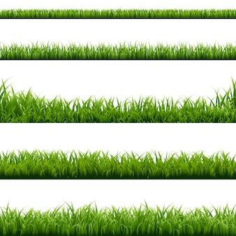 Großes set grünes gras