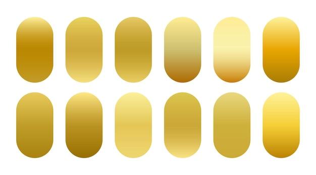 Großes set mit goldenen luxusverläufen