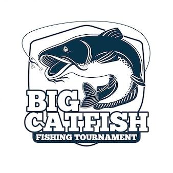 Großes welsfischen-turnier