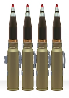 Großkalibermunition für automatische kraftkanone.