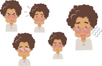 Großmutter Emoji-Vektor auf einem weißen Hintergrund