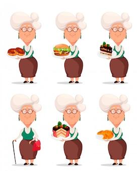 Großmutter in brillen