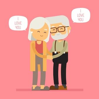 Großmutter lieben großvater