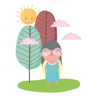 Großmutter zeichentrickfigur