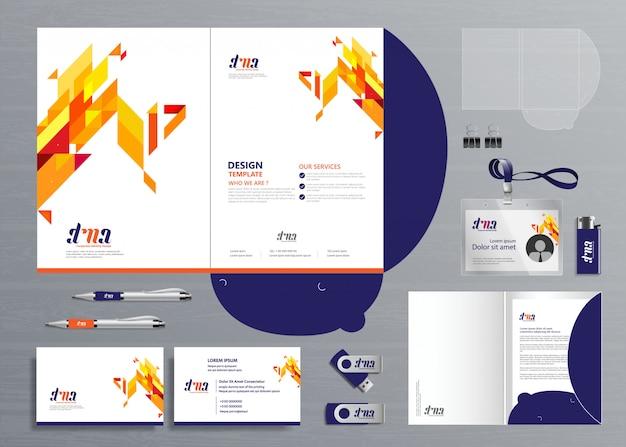 Grossunternehmen folder technology stationery company, präsentation