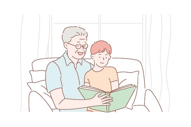 Großvatertag, großeltern, kindheit.