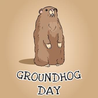 Groundhog day-postkarte