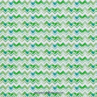 Grün-aquarell-zick-zack-muster